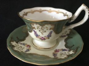 Royal Worcester espresso coffee cup and saucer